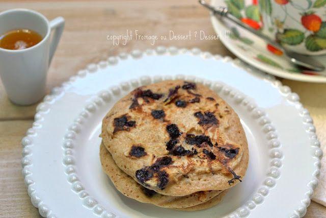 Fromage ou Dessert ? ... DESSERT !!!: Pancakes à la rose et aux myrtilles