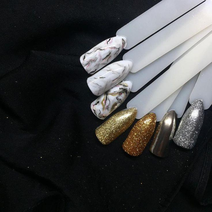 Marmurek na paznokciach, nailart, paznokcie hybrydowe, nails #piekniejszaty