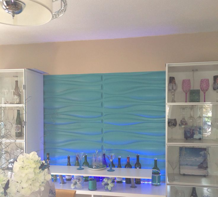 3d wall panels. Ikea kallax bar hack | Family room walls ...