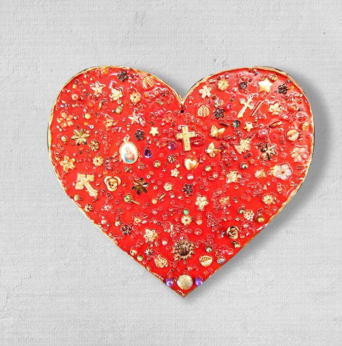 Coração de cerâmica da artista Suzana Barão. Você pode levar para sua casa um pedacinho do méxico e do Guacamole. coração. decoração. méxico. artesanato. decoração mexicana. guacamole