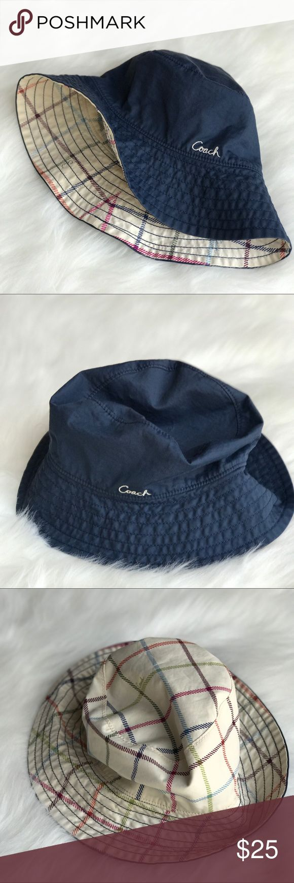 Coach Hat Cute Coach hat. Cotton. Reversible. Great used condition. Coach Accessories Hats