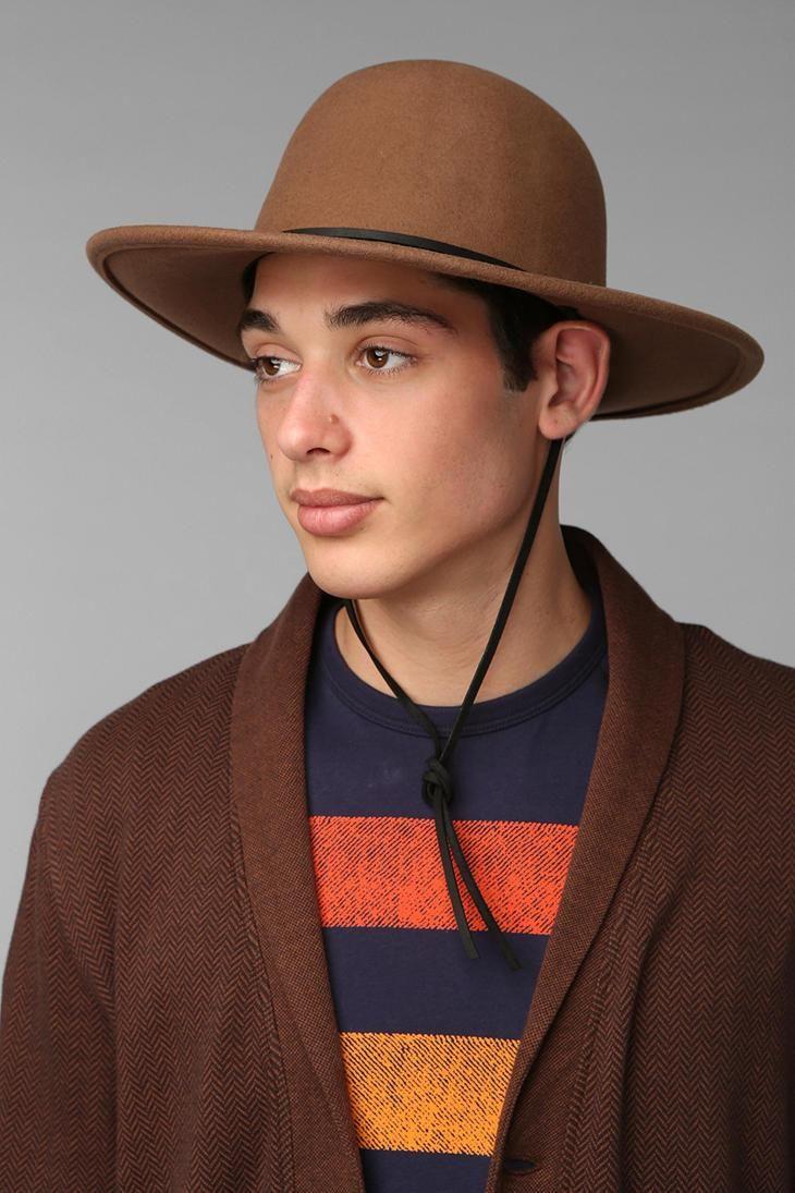 fc48217cfa0 Brixton Tiller Wide Brim Top Hat | #UOMens | Hats, Wide brim hat, Hats for  men