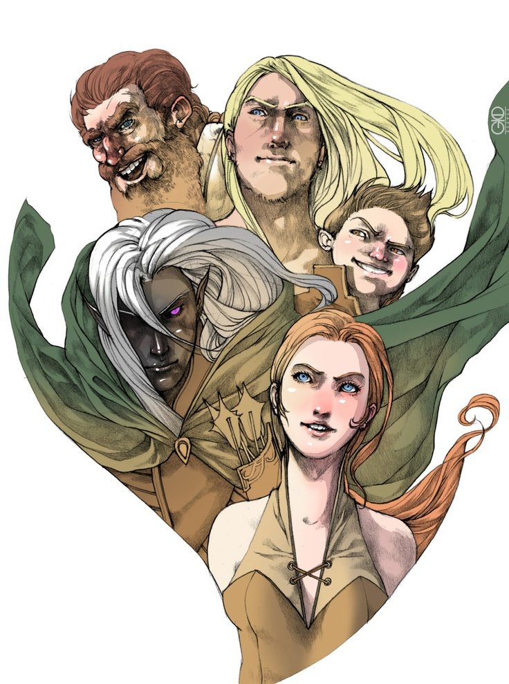 """Companions of the Hall by ~Gido on deviantART - I love R. A. Salvatore's """"Legend of Drizzt"""" Novels-- at least the first several.  Here are the heroic characters from the story."""