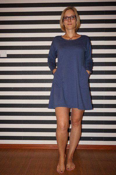 r 40 Sukienka jasny grafit . . - HeWoj - Sukienki mini