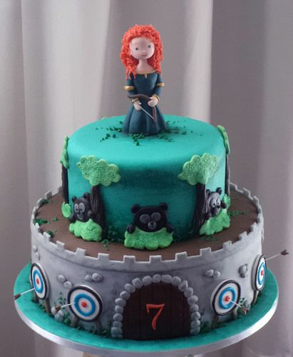 Princess Merida birthday cake                       Brave