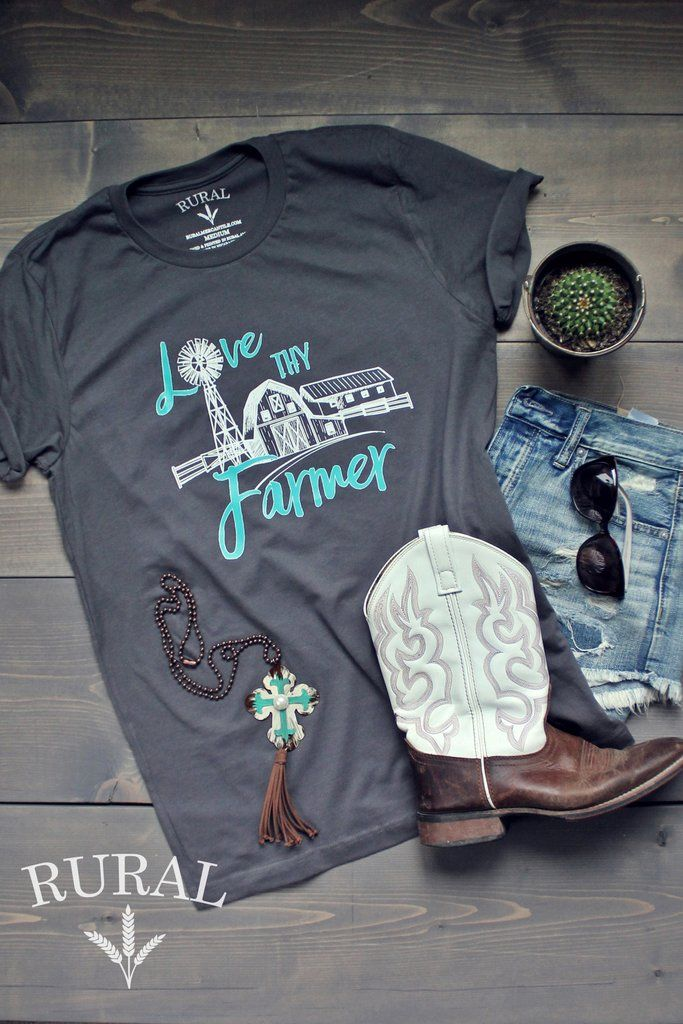 Support your farmer with this cute, original graphic tee from RURAL! Unisex fit.