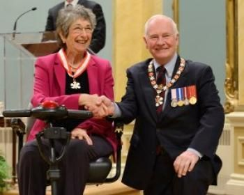 Here is an EXCELLENT article.  Bonnie Sherr Klein was invested as an Officer of the Order of Canada on May 3 by Governor General David Johnston.