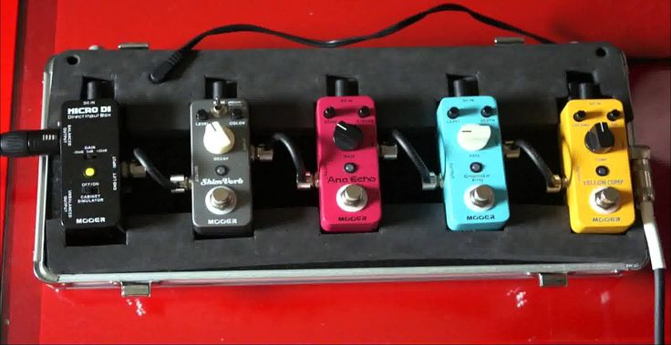 Mooer Pedals on Acoustic Guitar