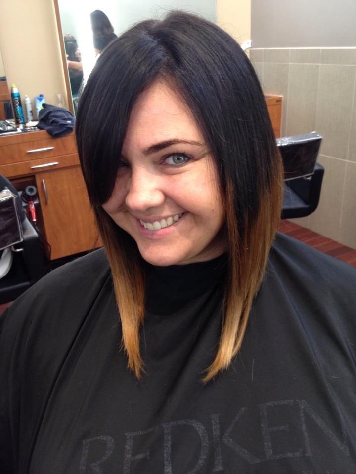 ... Bob Dip Dye, Dark To Light, Hair Cut, Ombre Short Hair, Bob Haircuts