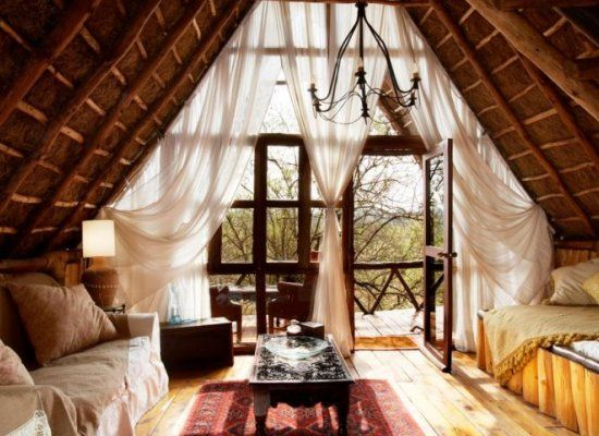 Rustic modern tree house style treehouses or the vagabond hearts pinterest rustic - The rustic attic ...