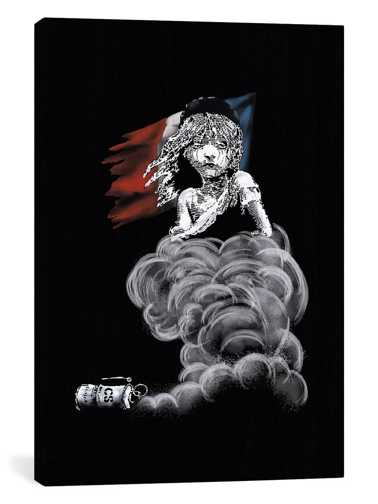 Les Miserables at Midnight by Banksy (Canvas) by iCanvas at Gilt