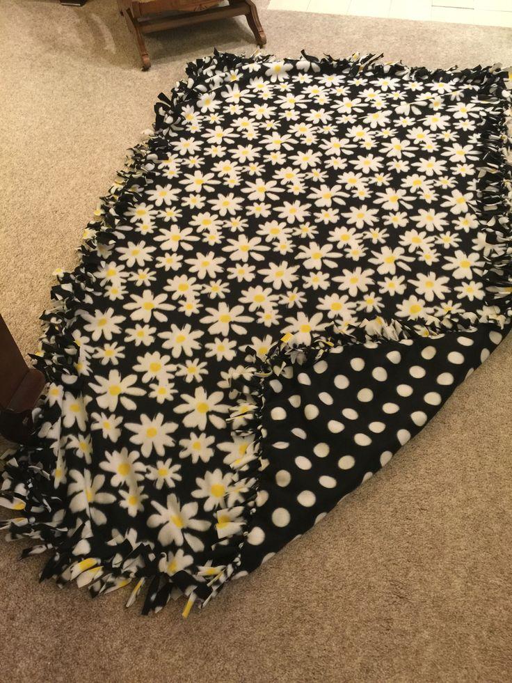 Daisy Dot Tie Fleece Blanket Material From Hancock
