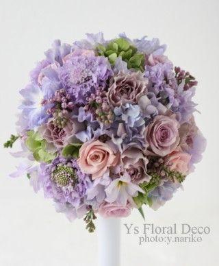 薄紫のラウンドブーケ @八芳園 ys floral deco