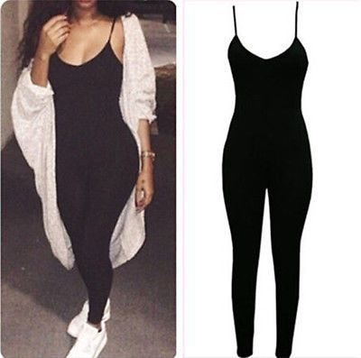 Jumpsuits | Spaghetti Strap Catsuit  http://www.inhermix.com/