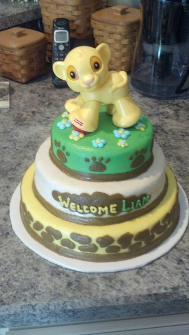 Lion king cake baby shower cakes lion kings lion king baby shower