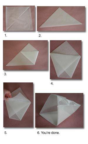 diy ... wax paper-bag via: cfabbridesigns.com
