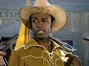 Cleavon Little. What's a dazzling urbanite like you doing in a rustic setting like this?
