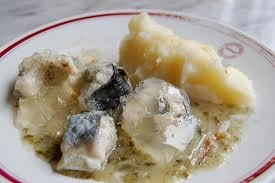 Traditional jellied eels.