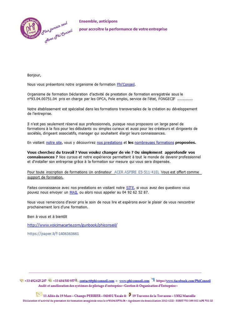 Pour toute inscription de formations Un ordinateur  ACER ASPIRE E5-511-41EL Vous est offert comme support de formation.