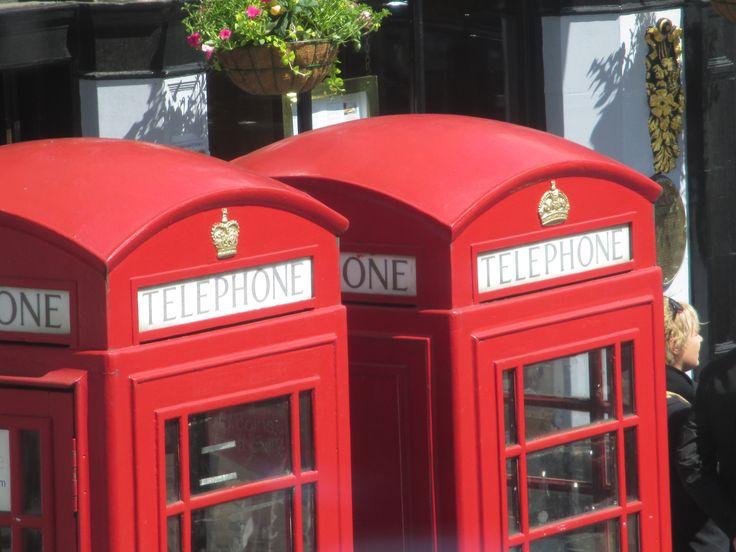 A comparison of the pre Elizabeth II 'British' box on the right and the 'English' Elizabeth II box on the left, photographed in Edinburgh! Compare the crowns.