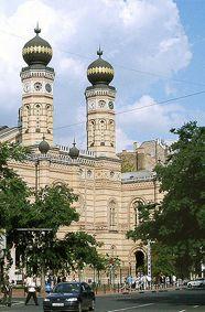 Nagy Zsinagóga, in Budapest, is Europe's largest synagogue.