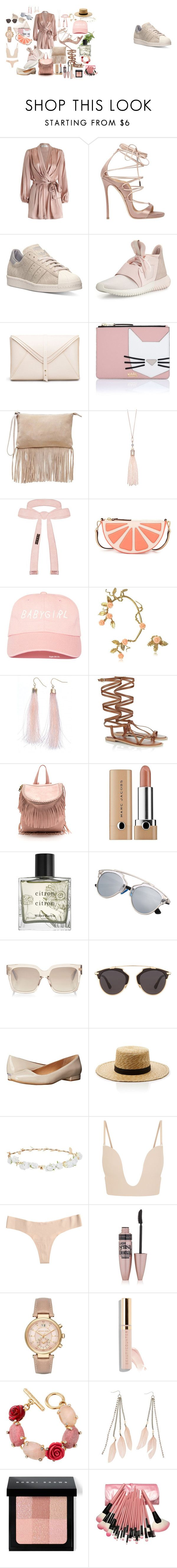 """pastel Satine"" by veronic-s on Polyvore featuring Zimmermann, Dsquared2, adidas, Karl Lagerfeld, Zign, Oasis, Cybele, Kate Spade, Bernard Delettrez and 3AM Imports"
