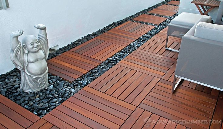 Decking Tiles - Ipe Wood Deck Tiles