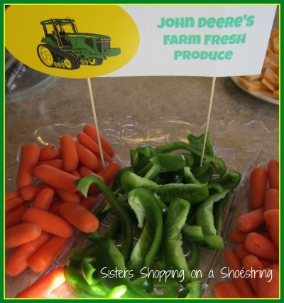 John Deere Birthday Party on a Shoestring - Sisters Shopping on a Shoestring