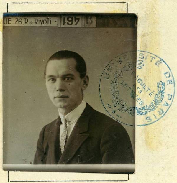 Ismeretlen: József Attila párizsi indexképe, 1926 vége