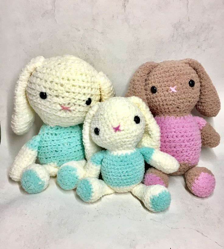 Maskotki - króliczki dziergane na szydełku / crochet bunny