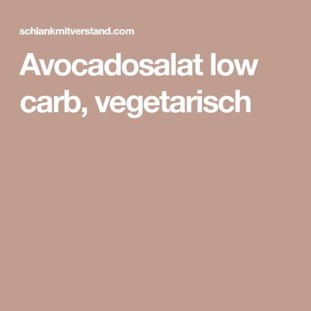 Avocadosalat low carb, vegetarisch
