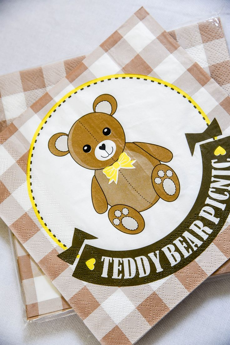 Teddy Bear Picnic paper napkin by Hunters Rose