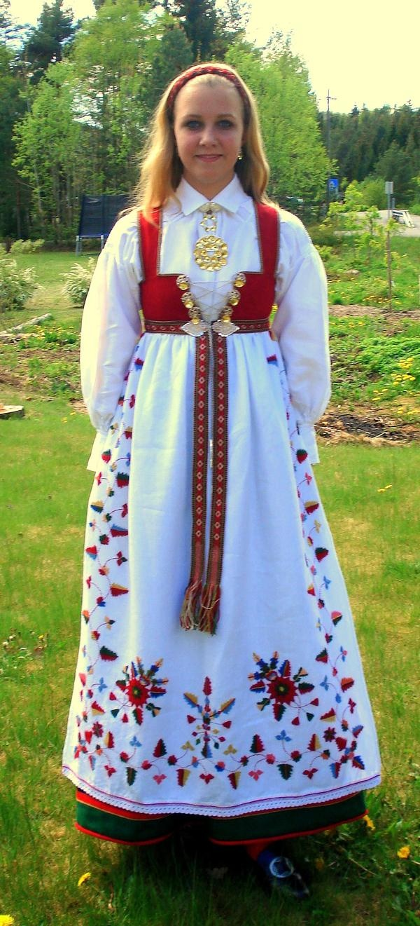 The East Agder bunad is rich in colourful embroideries