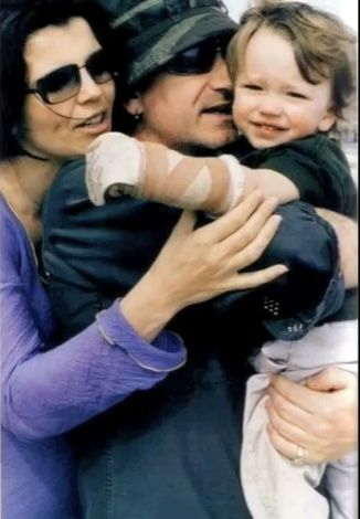 Bono and Ali Hewson with their son