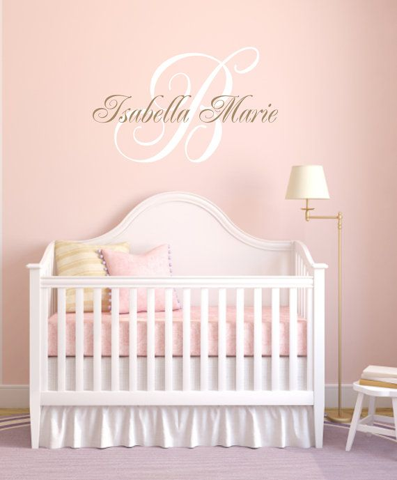 Personalized Initial and Name Vinyl Wall Decal with by wallartsy, $45.00