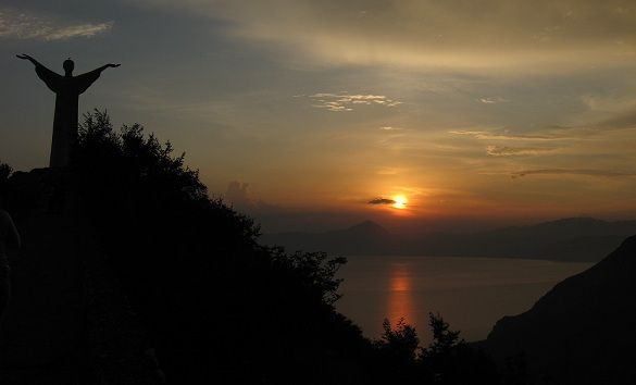 The Jesus of Maratea - Sunset