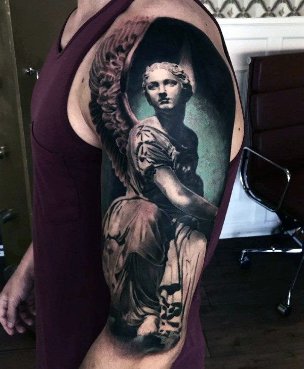 1000 ideas about men sleeve tattoos on pinterest men for Badass angel tattoos