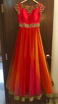 Floor length anarkali dress #Mrunalini Rao collections                                                                                                                                                                                 More