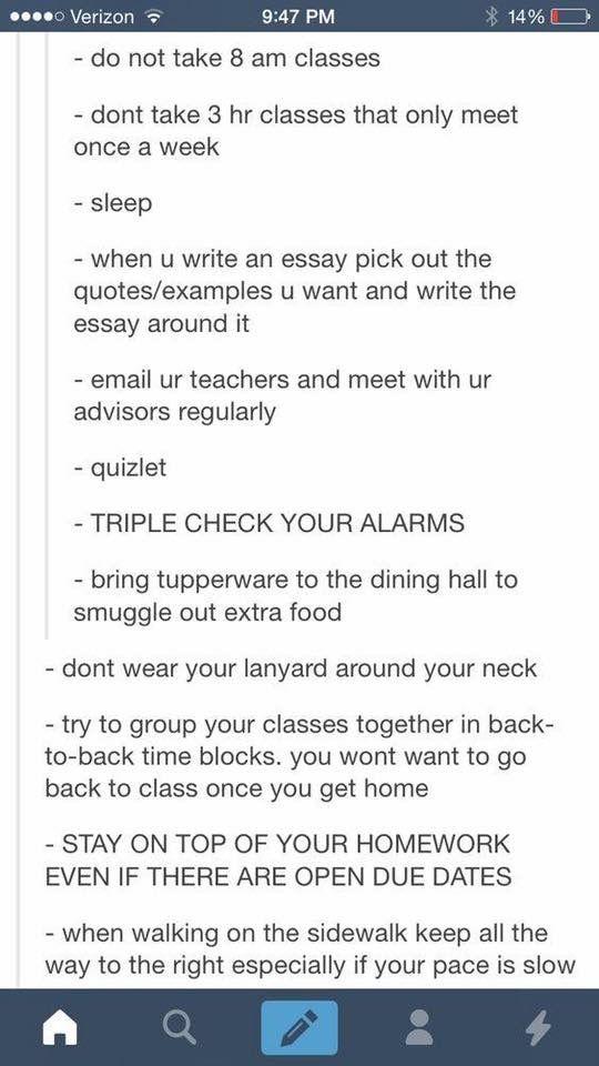 College advice. Thanks fam.