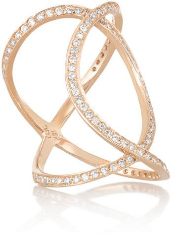 Anita Ko Double Infinity 18-karat rose gold diamond ring on shopstyle.com