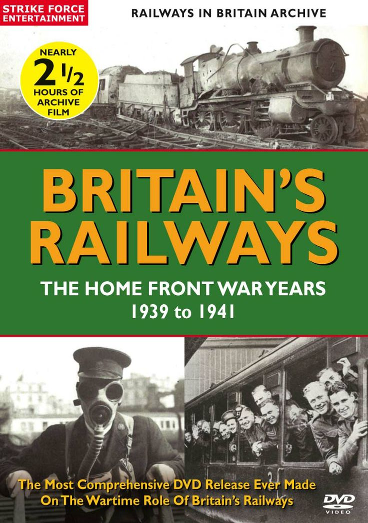 BRITAIN'S RAILWAY'S: THE HOME FRONT WAR YEARS 1939 TO 1941 is the definitive archive led documentary to celebrate the railway's vital role in the nation's war effort. Containing over two hours of archive footage, this unique DVD takes a nostalgic look at the logistical role the railways placed in transporting the men, munitions, material and machinery of combat, speedily and efficiently.