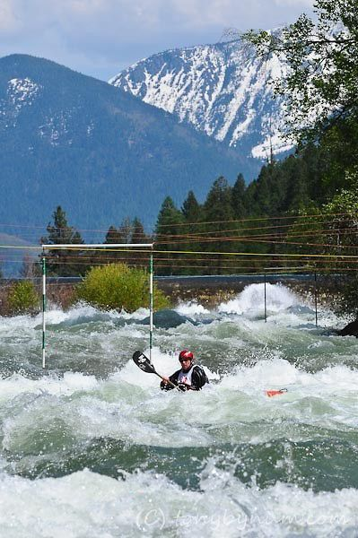 Kayaking Whitewater - The WILD Mile in Bigfork Montana