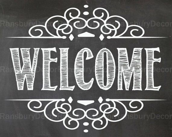 Welcome Chalkboard Sign Digital Chalkboard Sign by RansburyDecor