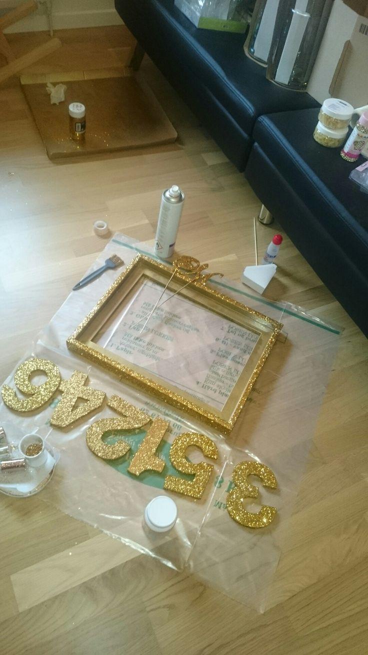 Guldrammer og bordnumre