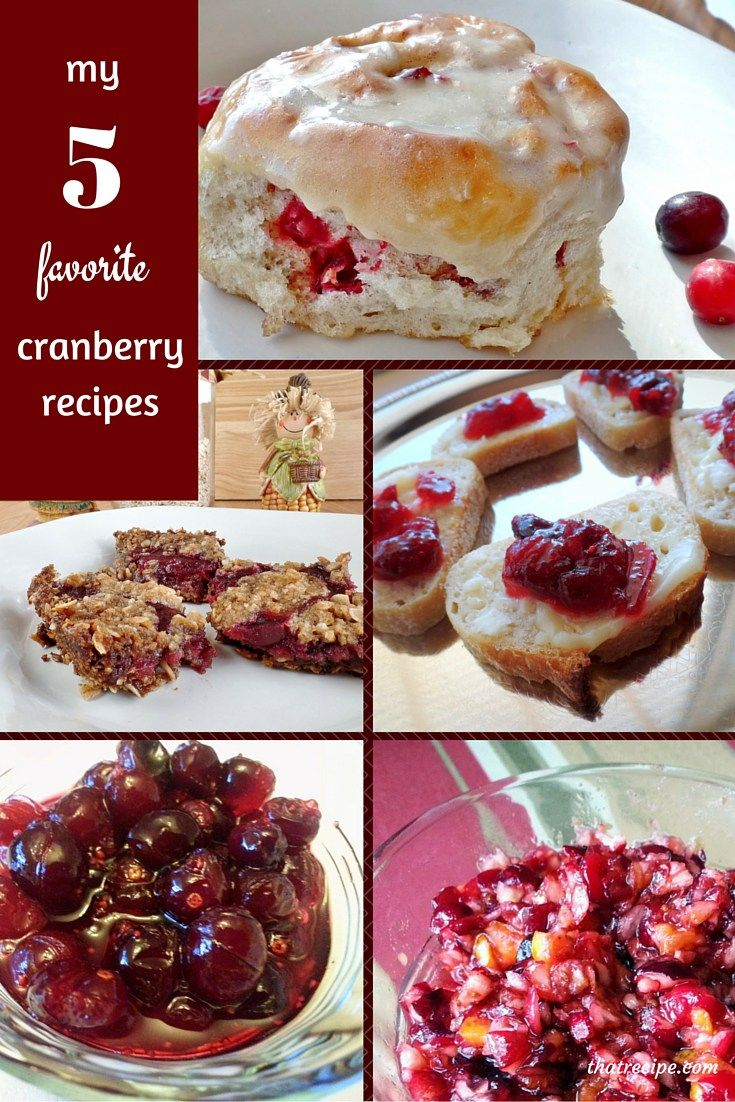 Fresh Cranberry Recipes: cranberry cookies, cranberry sauce, cranberry rolls and cranberry appetizers. #cranberry #cranberries