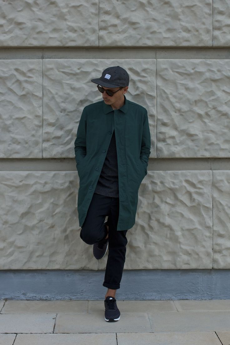 "copenhagenlookbook: ""Me (Laser BCN flat cap, Timeless sunglasses by Han Kjøbenhavn, Norse Projects Thor trench coat & Nike Air Max Thea JCRD) """