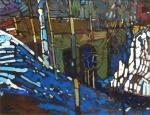 Arthur Shilling - Bridge at Dawn - Oil on Board - 20 x 16