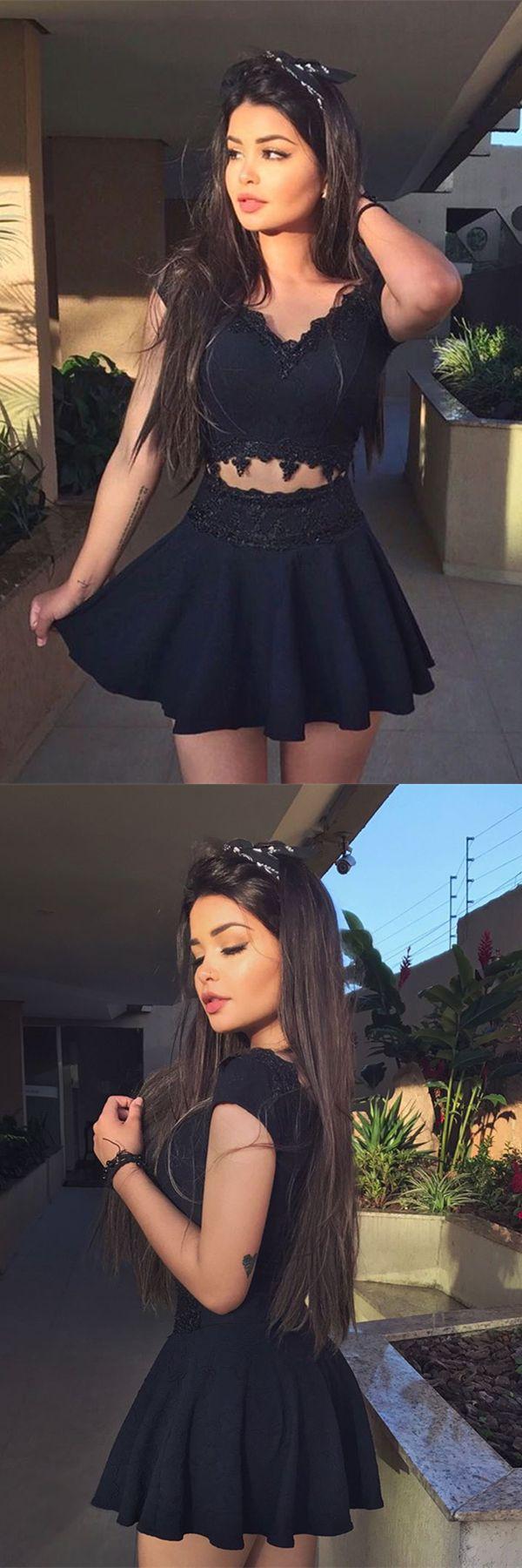black homecoming dresses,little black homecoming dresses,lace homecoming dresses,homecoming dresses short