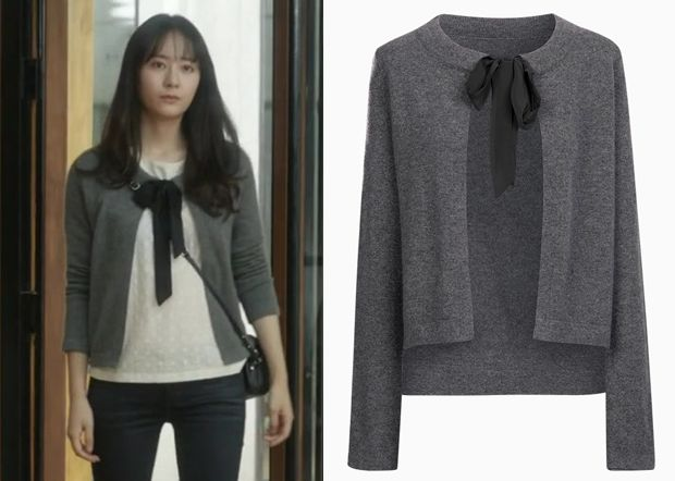 """Krystal 크리스탈 in """"She's So Lovable"""" Episode 5.  Comptoir Des Cotonniers Warm and Cozy Cardigan from the """"Follow Me"""" Cashmere Collection #Kdrama #ShesSoLovable 내겐 너무 사랑스러운 그녀 #Krystal"""