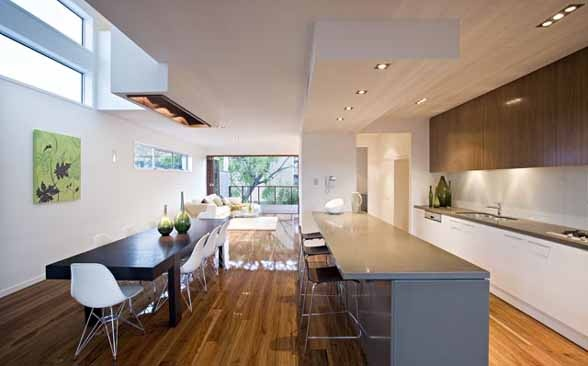 Modern Kitchen Timber Floors Black Butt Floor Stone